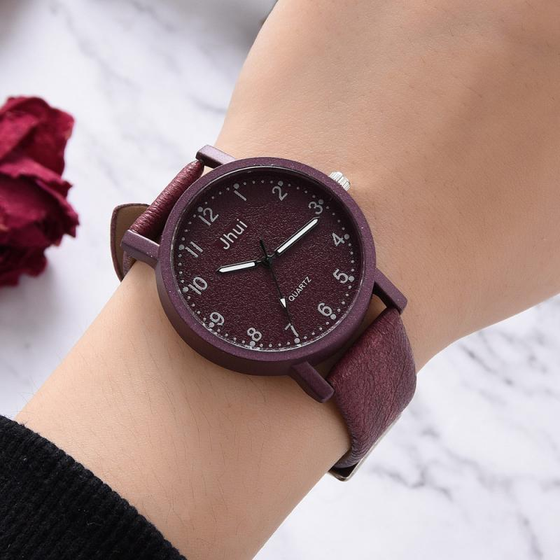 Top Brand Fashion Women Bracelet Watch Dress Ladies Quartz Clock Contracted Leather Numeral WristWatches Women Girl Dropshiping