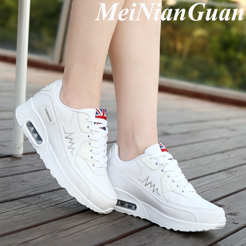 Women's Running Shoes Cushioning Ladies Sneakers White Women Sport Shoes Soft Sport Running Shoes Lace Up Women Sports Shoes H1