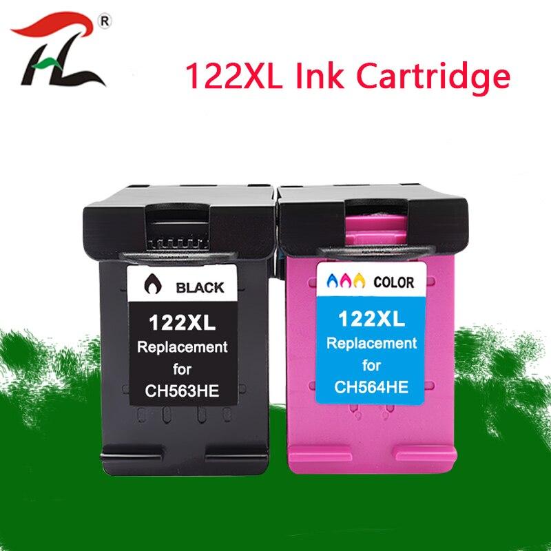 Compatível Para hp 122XL 122XL Tinta compatível hp 1050A 122XL hp 122 Para hp Deskjet 1000 1050 1510 2000 2050 3000 3050 Printer