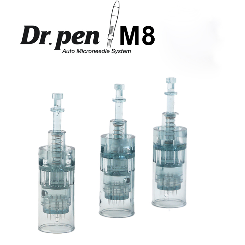 10 PCS 11/16//24/36/42/Nano Microneedling Needles Of Dr. Pen M8 Model Replacement Cartridage In One Bag