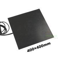 400x400mm 450 w 600 w 1000 w impressora 3d almofada de aquecimento de borracha de silicone 400*400mm preto