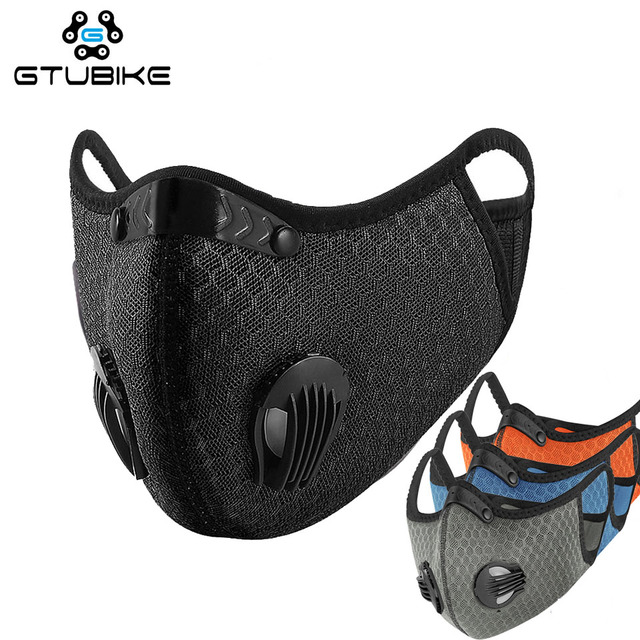 Activated Carbon Breathable Bicycle Mask Dust Windproof  Bike MTB Cycling Face Mask