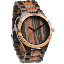 Uitverkoop Gratis Verzending Unieke Vrouwen Goedkope Stuff Elegante Business Casual Jurk Zebra Ebbenhout Horloges