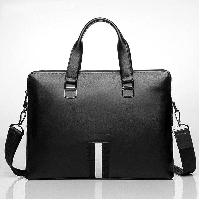 Men's Briefcase Genuine Leather Totes Bag For Documents Leather Men's Shoulder Bag Male Cow Skin Business Messenger Bag