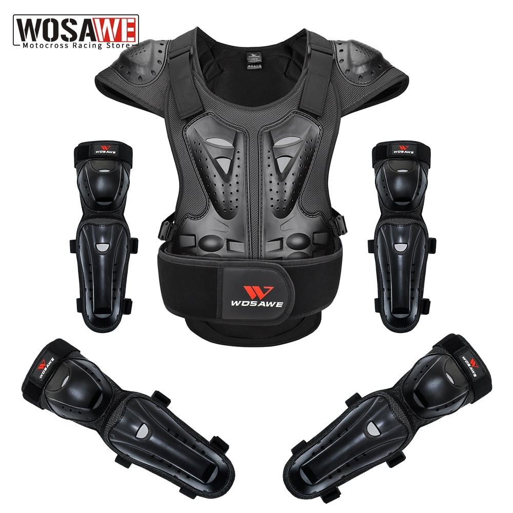 Армированный мотоциклетный жилет WOSAWE, защитная нагрудная жилетка для гонок, езды на велосипеде, мотокроссе, езды по бездорожью, защита тела,...