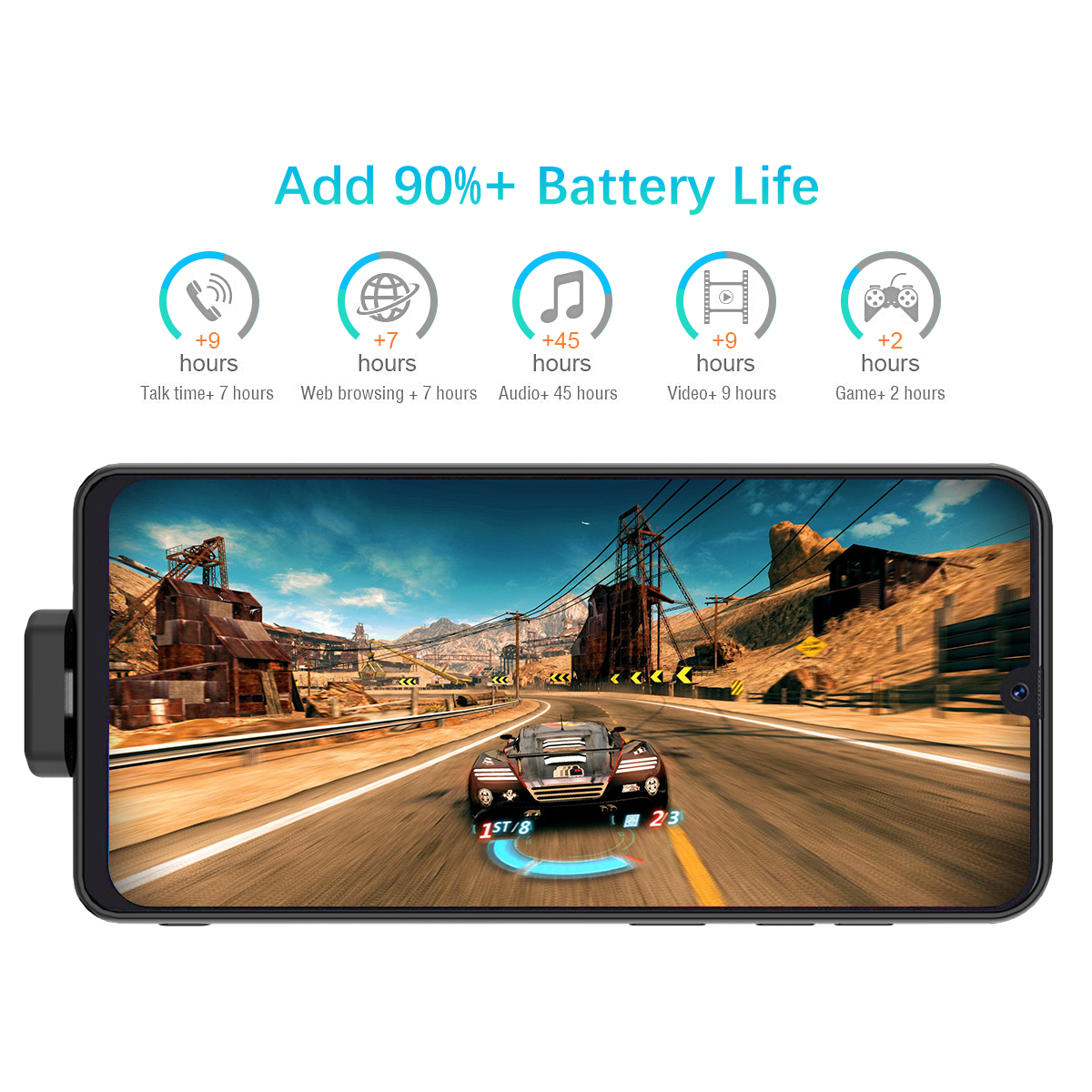 Для samsung Galaxy A50 7000mAh зарядное устройство чехол Магнитный внешнее резервное зарядное устройство power Bank защитный чехол с петлей Fundas