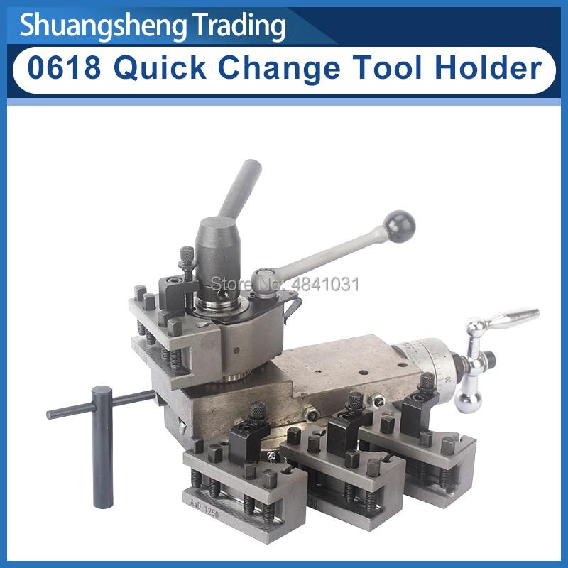 Quick-change Tool Holder Assembly 0618  Mini Lathe Tool Holder Machine Tool Slide/Slide Rest