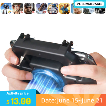 Vip Pubg Controller Phone Gamepad Pubg Mobile Trigger L1R1 Shooter Joystick Game Pad Holder Cooler Fan with 4000mAh Power Bank