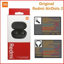 New Xiaomi Redmi AirDots 2 TWS Bluetooth 5.0 Wireless Earphone Left Right Low Lag Mode Mi True Wireless Stereo Auto Link Headset