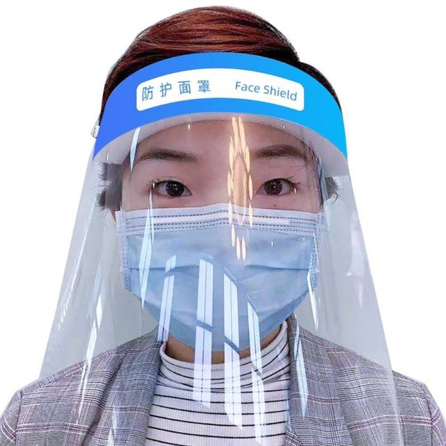 Multipurpose Transparent Protective Adjustable Anti-saliva Dust-proof Full Face Cover Mask Visor Shield for adults for child 2