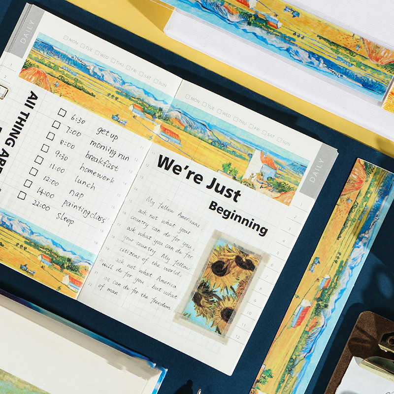 Mohamm Grandi Artisti di Colore Serie Washi Nastro Adesivo di Carta di Rilascio Adesivi Scrapbooking Cancelleria Nastro Decorativo