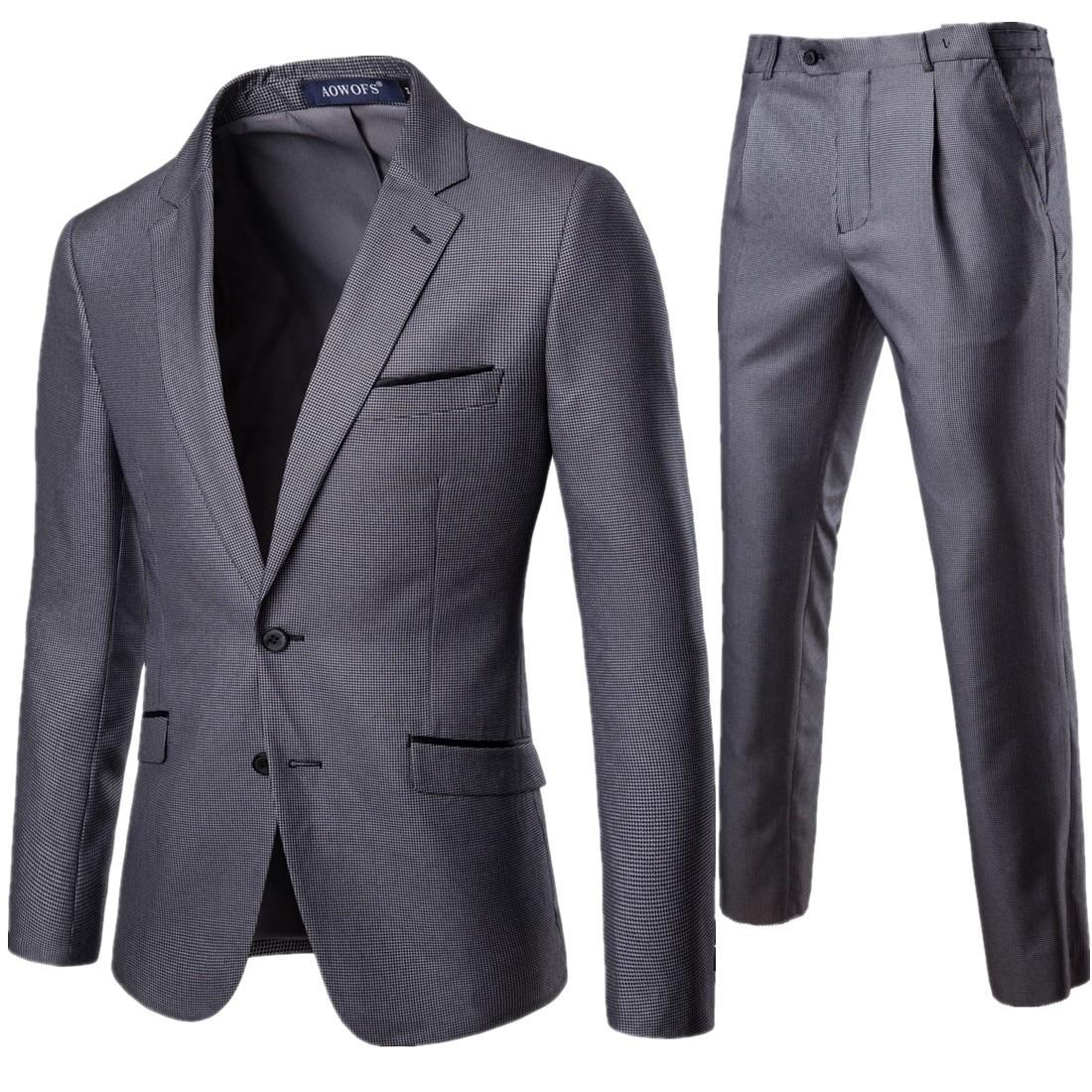 Lotte Men Suit 2 Pieces Business Formal Wear Suit Best Man Groom Marriage Formal Dress Xf011