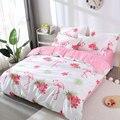 Комплект постельного белья с геометрическим принтом фламинго  пододеяльник с мультяшным рисунком  простыня и наволочка для взрослых детей ...
