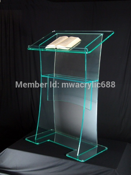 Free Shipping High Quality Fruit Setting Modern Design Cheap Clear Acrylic Lectern Podium Plexiglass