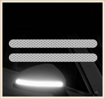 2PSC Car Reflective Rearview Mirror Reversing Night Safety Warning for Jeep Hurricane Gladiator Wrangler Compass Patriot image