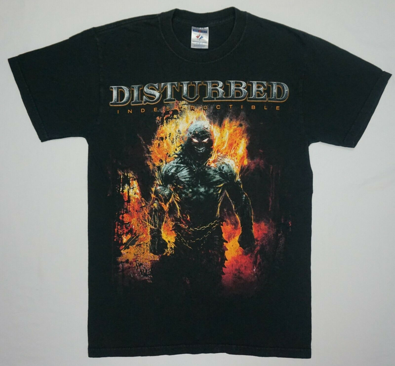 Disturbed INDESTRUCTIBLE 2008 Tour T Shirt Size S Vtg Heavy Metal Hard Rock Band image