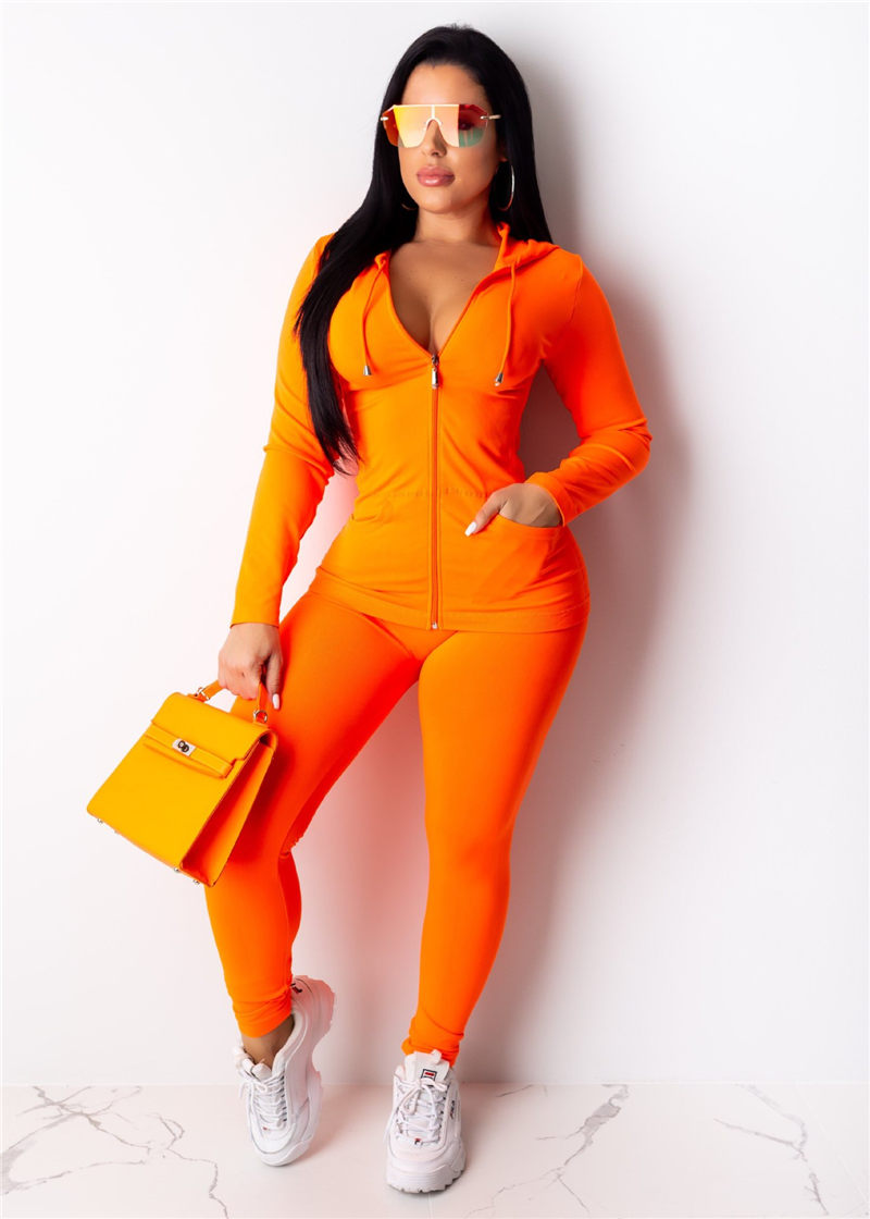 Women Yoga Set Tracksuit Gym Clothes Fitness Workout Outfit Zipper Plus Size Hooded Top+Skinny Leggings Pants Stretch Sport Wear