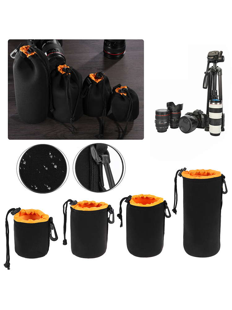 Waterproof DSLR Camera Lens Soft Protector Carry Pouch Bag Case 5 Sizes S-2XL