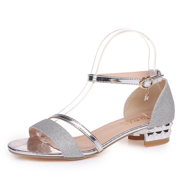 Fashion Sandals Ankle Mid Heel Sandals Women Block Party Open Toe Shoes Ladies Round Toe Shoes zapatos de mujer tacon negro#G10 Uncategorized Fashion & Designs Ladies Shoes Women's Fashion