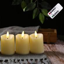 Luzes de vela de controle remoto realistas led flameless pilar ano novo vela a pilhas bullet led luzes de chá vela de páscoa