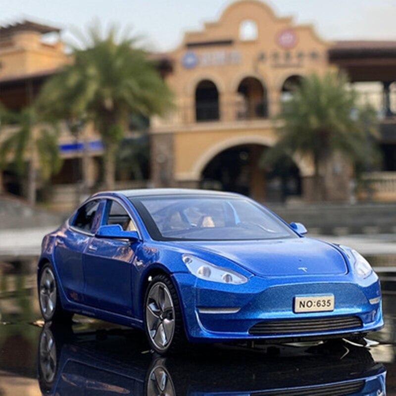 Новинка 2021, 1:32 Tesla MODEL X MODEL 3 MODEL S, модель автомобиля из сплава, литой игрушечный автомобиль, игрушечные автомобили, детские игрушки, подарки дл...
