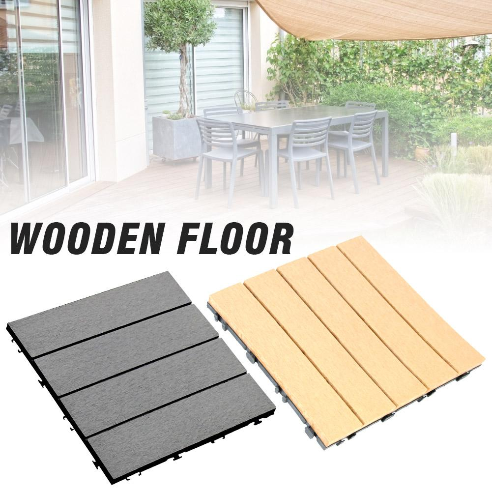 30*30cm Garden Floor Patio Tiles Wood And Plastic Corner Edging Trim Tiles Non-Slip Balcony Yard Garden Floor Tiles Garden Decor