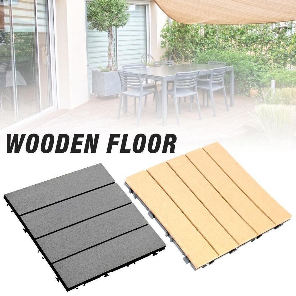 30 30cm Garden Floor Patio Tiles Wood