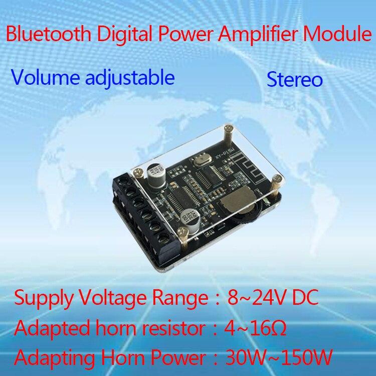 10W/15W/20W Stereo Bluetooth Power Amplifier Board 12V/24V High Power Digital Amplifier Module XY-P15W