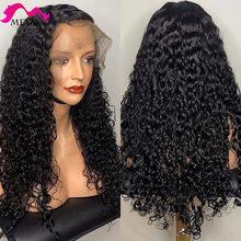 MEYA-Peluca de cabello humano ondulado de 13x4 para mujeres negras, 28, 30, 32 pulgadas, pelo brasileño con encaje Frontal, Remy