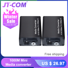DC 5V-12V 20KM 1000M Mini Gigabit Media Converter