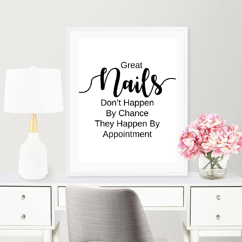 Nail Salon Quotes Canvas Painting  Beauty Salon Wall Decoration