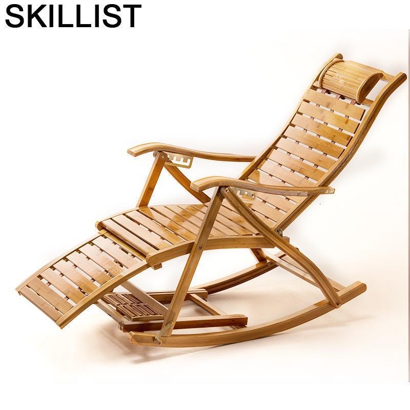 Furniture Terraza Mueble Rocking Fauteuil Salon Bamboo Sillon Reclinable Folding Bed Sillones Moderno Para Sala Recliner Chair