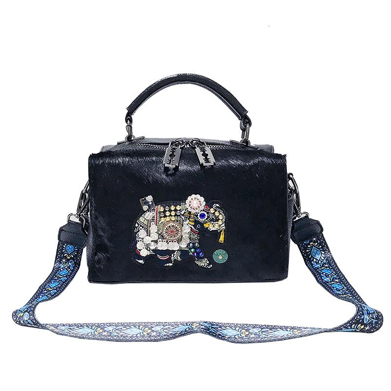[Telastar] 2019 Winter Season Fur Bag Horse Hair Bag Women Crossbody Handbag Single Shoulder Elephant Ladies Message Bags