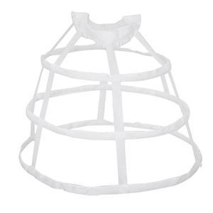 Для женщин 3 кольца Паньер Нижняя юбка выдалбливают птичья клетка юбка свадебные оборки широкий пояс кринолин скольжения нижняя суета