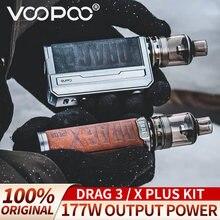 Para voopoo arrastar x plus kit 100w + arraste 3 kit 177w pod mod conjunto tpp dm1 dm2 cigarro eletrônico drag3/x/xplus max sem 18650 bateria