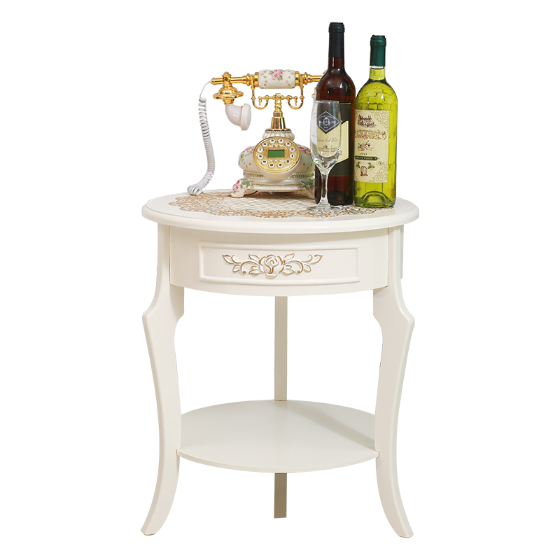 European small tea table edge  round  living room sofa side cabinet bed