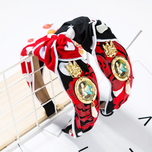 Lukeni 2019  Cotton Cloth Alloy Pearl Ethnic Figure Red Colour Headband For Women Jewelry High Quality