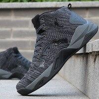 Homens sapatos de basquete masculino cultura sapatos esportivos tênis de alta qualidade homem tendência respirável tênis de caminhada|Tênis de Basquete| |  -