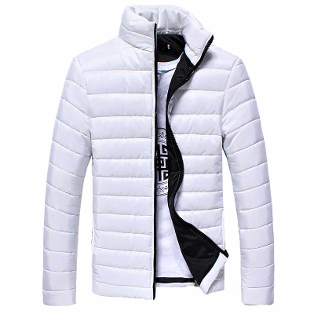 Men's Coats And Jackets Winter Boys Men Warm Stand Collar Slim Winter Zip Coat Outwear Jacket Men's Windbreaker Casual Jackets