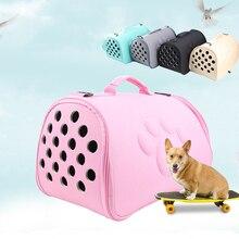 EVA Pet Carrier Bag Portable Travel Outdoor Puppy Dog Cat Shoulder Package Handbag Foldable Soft