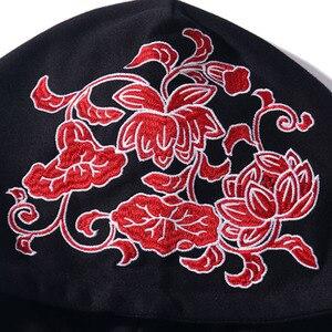 Image 4 - Men Hip Hop Hoodie Sweatshirt Japanese Geisha Harajuku Streetwear Embroidered Flower Hoodies Pullover Cotton Autumn Japan Style