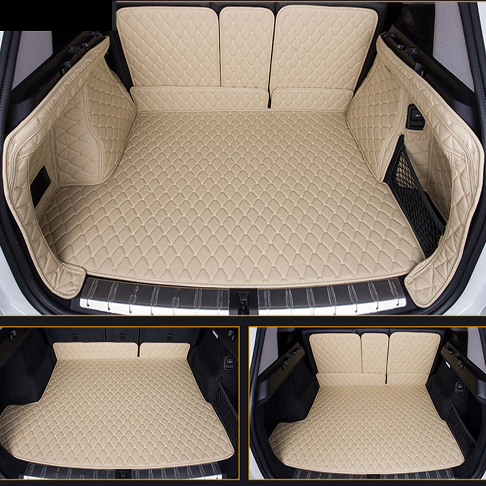 Customized Full Cover Car Trunk Mats Cargo Liner Special For BMW X1 E84 Anti Slip Foot Case Car Styling Rugs Carpet Liners 6D (2