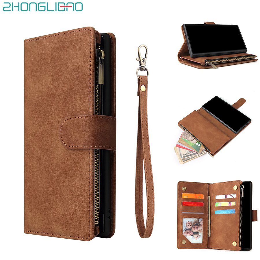 For A70 A50 A40 Leather Wallet <font><b>Case</b></font> for <font><b>Samsung</b></font> Galaxy S8 <font><b>S9</b></font> S10 E Note 9 10 Plus A10 M10 A20 A30 Magnetic Card <font><b>Phone</b></font> <font><b>Cover</b></font> Bag image