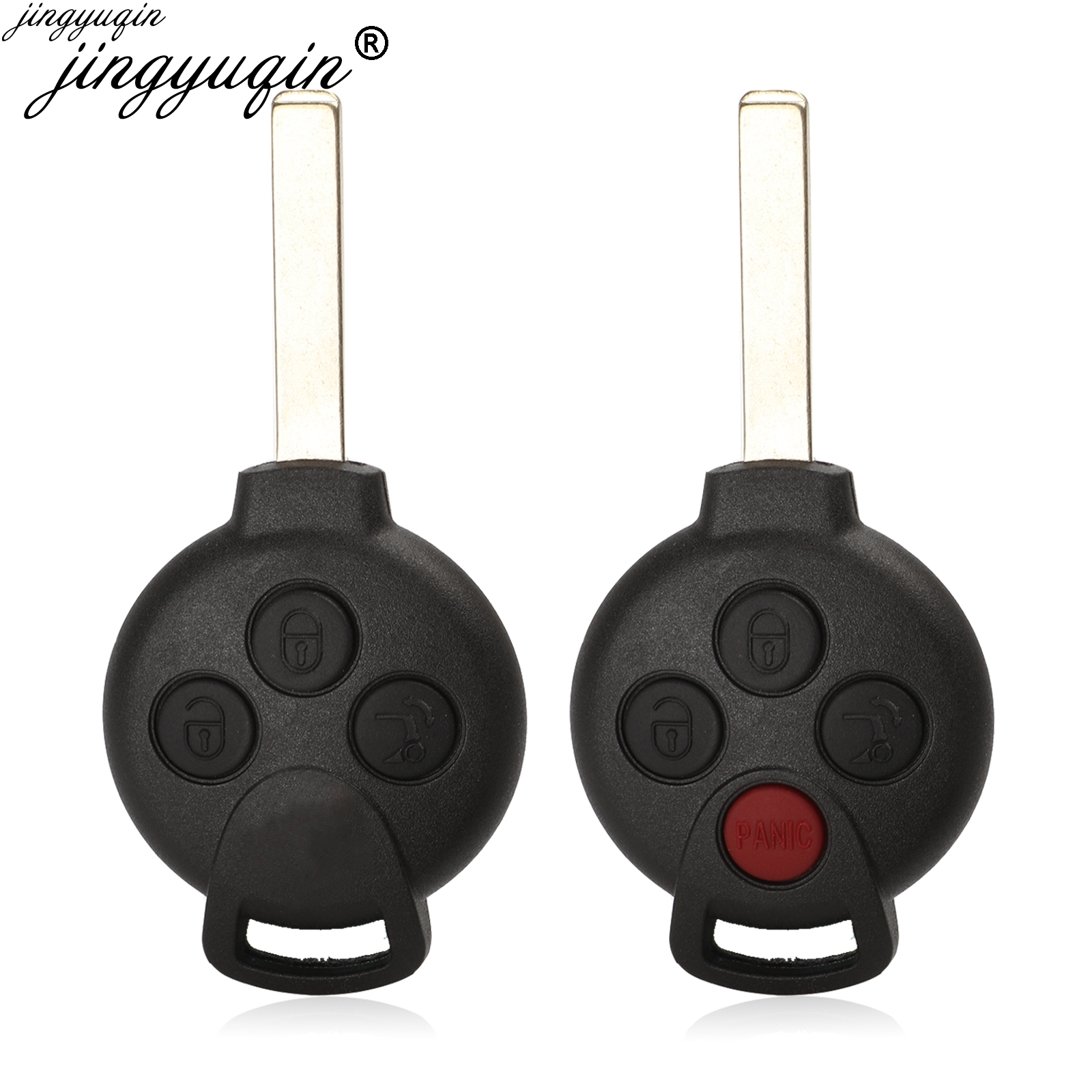 3/4 Buttons Car Remote Key Shell Case Fob for MERCEDES BENZ <font><b>MB</b></font> SMART CAR CITY ROADSTER FORTWO Auto Replacement Key image