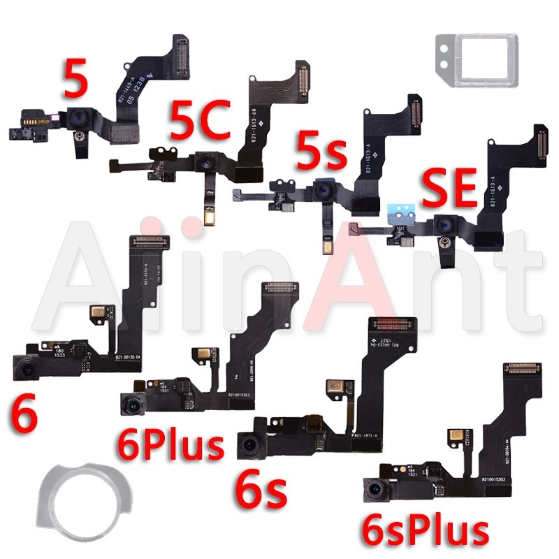 Original Front Camera For IPhone 6s 6 Plus 5 5s 5C SE Sensor Proximity Small Front Camera Flex Cable With Bracket Replacement