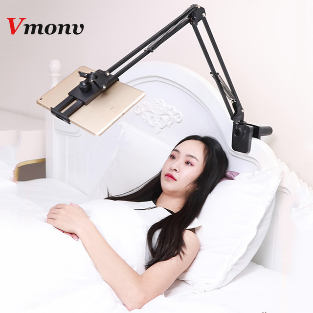 Super Deal 6d8a4 Vmonv Adjustable Tablet Phone Holder For Iphone Samsung Huawei Flexible Rotating Bed Desktop Mount Stand For Ipad Air Pro 12 9 Cicig Co