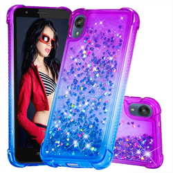 На Алиэкспресс купить чехол для смартфона ultra thin shiny double color matching gradient cases for motorola moto e6 e6s e6 plus love heart glitter liquid quicksand case