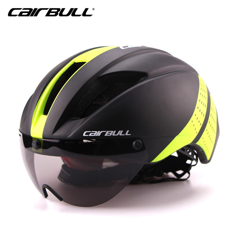 280g Aero Ultra-light Goggle TT Road Bicycle Helmet In-Mold Racing Cycling Bike Sports Safety Helmet Time-Trial Cycling Helmet