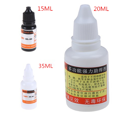 1pcs 15ml/20ml/35ml Stainless Steel Flux Soldering Stainless Steel Liquid Solders Water Durable Liquid Solders Best Price