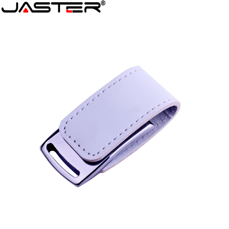 JASTER USB 2.0 New Metal USB Flash Drive Leather & Metal Keyring Pendrive Fashion Creativo 64gb 32gb 16gb Memory Stick U Disk